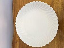 Haviland Limoge Torse White Large Round Platter/ Serving Dish Vintage