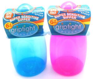 Griptight - Super Sensitive Baby Feeding Sipper Sippy Cup Non Spill - 250ml