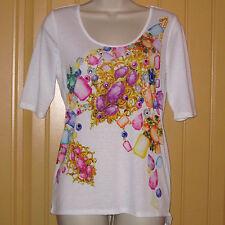 EUC Junior's Med BONGO Embellished Jeweled Shirt Top w/Open Peep Draped Back
