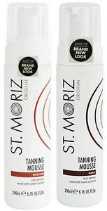 Any 2 ST MORITZ Instant Bronzing SELF TANNING Mousse MEDIUM or DARK  200ml each