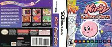 Kirby Canvas Curse Nintendo DS Reproduction Cover Art Work (no Game No Box)