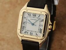 Cartier 18K Gold Panthere Unisex 28mm 1990s Luxury Swiss Made Dress Watch LV100
