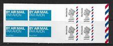 2004 Mja1 Booklet 4 X Self Adhesive Worldwide Postcard Airmail Cylinder W1 W1 W1