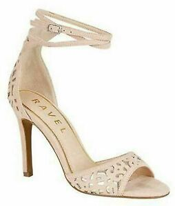 Ladies Womens Ravel Leather Lined Ankle Strap Stiletto Heel Sandals Shoes Size