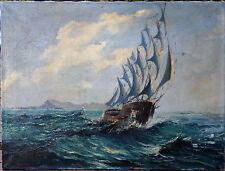 Originalgemälde (1900-1949) aus Leinwand mit Expressionismus auf Seefahrt & Schiff
