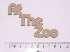 CHIPBOARD - AT THE ZOO - CRAFTY ORIGINALS
