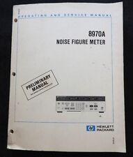 HEWLETT PACKARD HP 8970A NOISE FIGURE METER OPERATING & SERVICE MANUAL HUGE