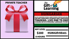 Hungarian language course with private teachergift card