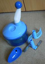 Tupperware Quick Chef blau inkl. Schneideinsatz, Rühreinsatz, Trichter *wie neu*