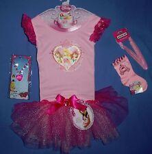 Disney Aurora,Belle,Ariel Dress Up 4-6X;dance;ballet;necklace;hairband;socks;LOT