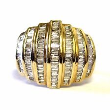 10k yellow gold 3.33ct SI3 H diamond cluster anniversary ring 7.6g  size 10.25