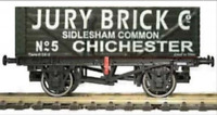 Gaugemaster GM4410209 OO Gauge 7 Plank Wagon Jury Brick Co