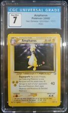 Ampharos 1/111 Neo Genesis Unlimited Holo Rare CGC 7 Near Mint Pokemon TCG