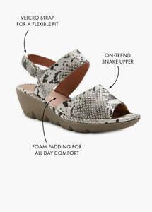 ts Taking Shape Sandals Size 42 Madison Snake Print Style NEW
