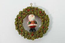 Vintage 1976 Hallmark Twirl-Abouts Santa in Wreath Christmas Tree Ornament