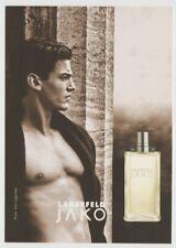 KARL LAGERFELD JAKO Cologne 1998 Tower Records Postcard Parfum Free Sample