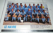 CLIPPING POSTER FOOTBALL 1987-1988 LE HAVRE AC HAC JULES-DESCHASEAUX