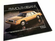 1984 Plymouth Reliant Brochure