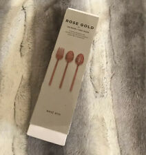 West Elm Rose Gold 3-Piece Hostess Set Utensilios New