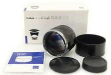 Carl Zeiss Planar 85mm F1.4 ZE T* Lens. Hood. Box For Canon