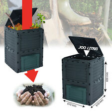 Garden Compost Bin Composter Eco Friendly Soil Rubbish Recycle Waste Large 300L