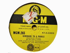 SLIM GAILLARD - Serenade To A Poodle / Communications 78 rpm disc (A+)