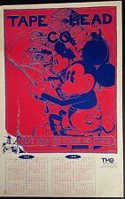 SCARCE - MICKEY in INFINITY 1970 Tape Head Calendar 13x20 Cardstock NEAR MINT