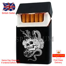 """Silicone Cigarette Case/Cover """"Skull and Snake"""" Black (Same Day Dispatch)"""