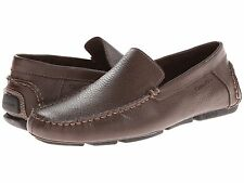 Calvin Klein Men's Menton Tumbled Leather Slip On Loafers Med Brown F9013 11US