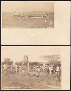 USS Yankee (2) RPPC Postcards in Monte Cristi, Dominican Republic, circa 1905