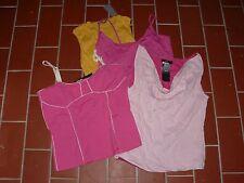 ZERO Posten 4 Sommertops Sommer Tops Shirts 2x42 1x 40 1x36 rosa gelb NEU