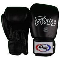 Fairtex Muay Thai Boxing Training Sparring Gloves Black 12 oz MMA Blast Black