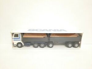 "VINTAGE Emek Muovi SCANIA Truck with Trailer 1:25 Made in Finland 21"" NEW SEALED"