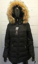 Women Ladies New Short Warm Padded like REAL FUR Hooded Puffer Coat/Jacket 17110
