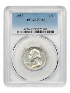 1937 25c PCGS PR 65 - Desirable Proof Issue - Washington Quarter