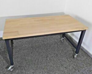 Werkbank Werktisch fahrbar Arbeitstisch stabil höhenverstellbar Tisch Räder rad