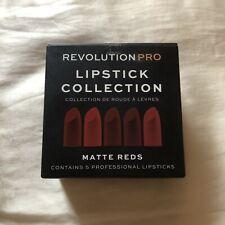 Revolution Pro Lipstick Collection Matte Reds 5 Set Full Size Brand New Sealed