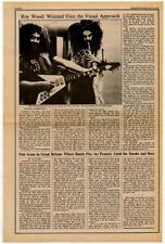 Roy Wood Move ELO Orchestra Interview/article 1973 HJKL