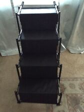 Golden Coast Unlimited Dog Car Accordion Folding Stairs - Metal 4 Step Black