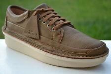 Clarks Originals BNIB Mens Casual Shoes OSWYN LO Dark Ochre Leather UK 9.5 / 44