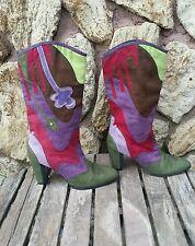 Michael Antonio MULTI-COLOR Patch SUEDE Fashion BOOTS