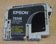 Genuine EPSON T0348 Matte Black ink cartridge - opened but not put in a printer