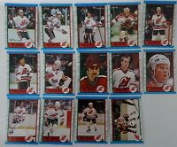 1989-90 O-Pee-Chee OPC New Jersey Devils Team Set of 14 Hockey Cards