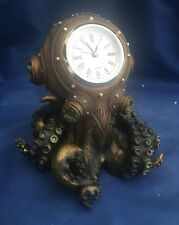 Clocktopus Desk Clock Ornament Nemesis Now New Boxed Octopus Figurine Steampunk