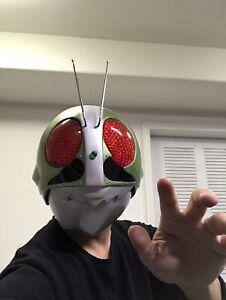 Rare!!! Kamen Rider Cosplay Helmet 1/1Wearable LED Model Masked Rider Handmade!!