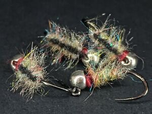 4ea. Rainbow Tailwater Sow bug  size #16. Great for Euro nymphing.
