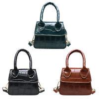 Retro Leather Women Shoulder Tote Bags Solid Color Mini Crossbody Handbag