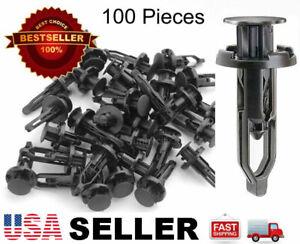 100 Plastic Rivet Fastener Clip Retainer Screw For Toyota Scion Bumper !!USA!!