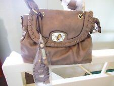 Euroline beige/brown chunky hand bag with shoulder strap