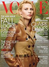 VOGUE USA August 2013,Claire Danes,Cyndi Lauper,Lindsey Vonn,Annie Leibovitz NEW